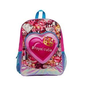 Backpack - Emoji - Royal Cutie With Heart Pocket